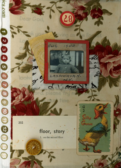 Norma Kooi. Fabric Altered Book, Page 1