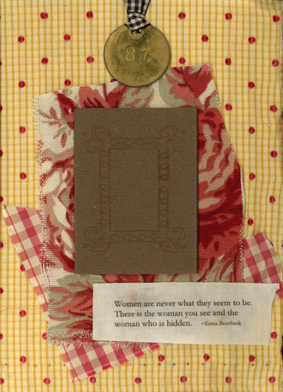 Norma Kooi. Fabric Altered Book, Page 3
