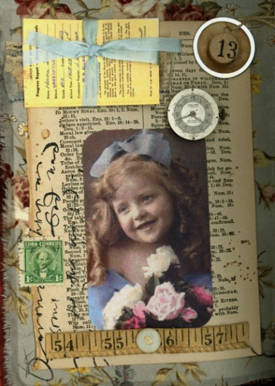 Norma Kooi. Fabric Altered Book, Page 9