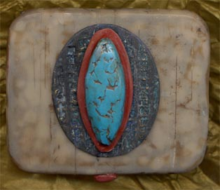 Susan Frank CA, polymer clay covered tins