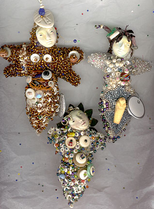 button and bead dolls