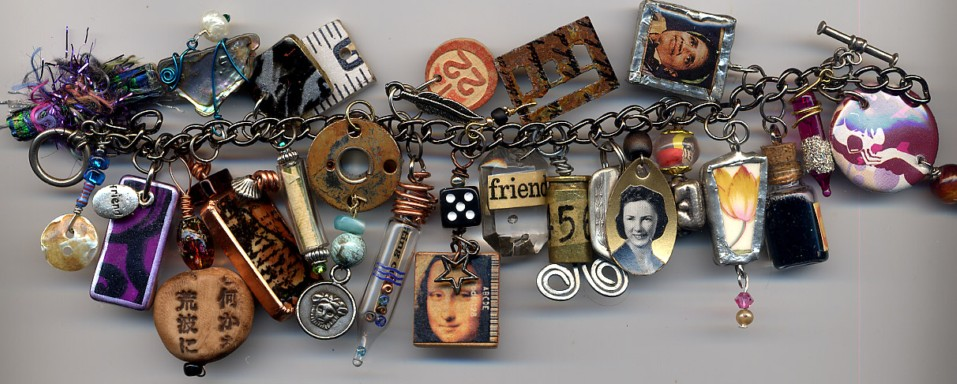 Gillian Allen : charm bracelet made from Dawn Sellars Oh So Charming Swap