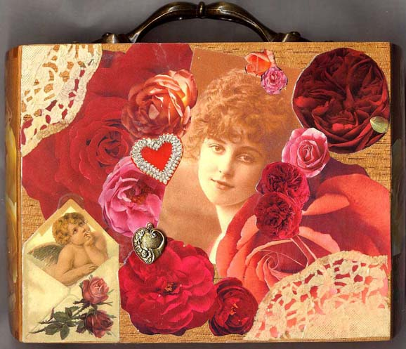 Linda Mitcheltree Happy Valentines Cigar Box Purse
