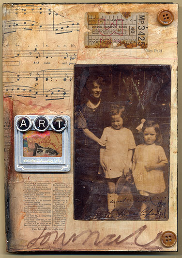Gillian Allen UK, front cover 3. Art Journal Cover