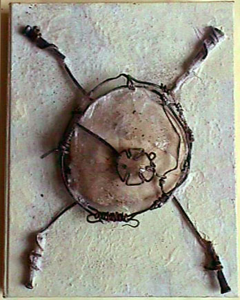 Kerin Gale OR USA, Sand Dollar, Mixed Media