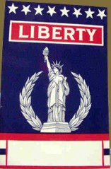 Vintage Liberty card, sent in by G Allen