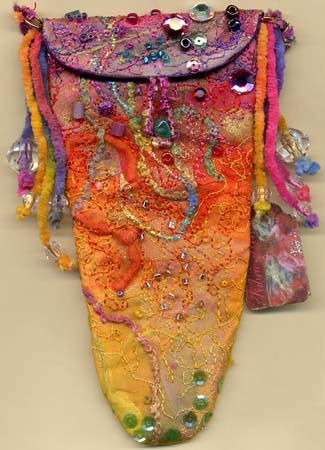 Gillian Allen, bondaweb embroiderd purse