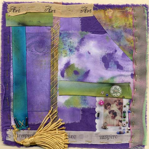 Lenna Andrews Foster, fabric collage