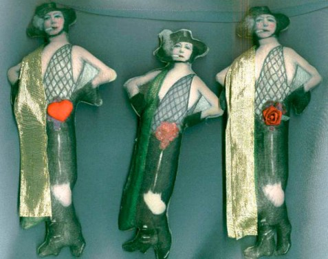 Sylvia Kleindinst stuffed fabric dolls