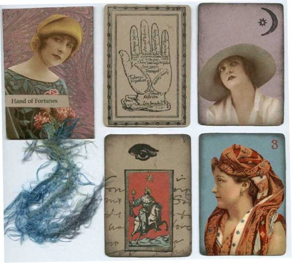 Megan Whisner, collaged playing cards