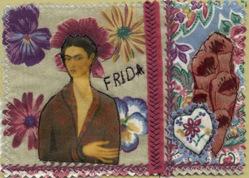 Frida Fabric Postcard
