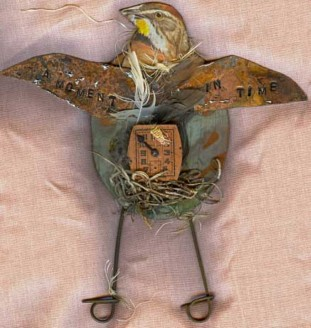 Mixed media Birds:A moment in time