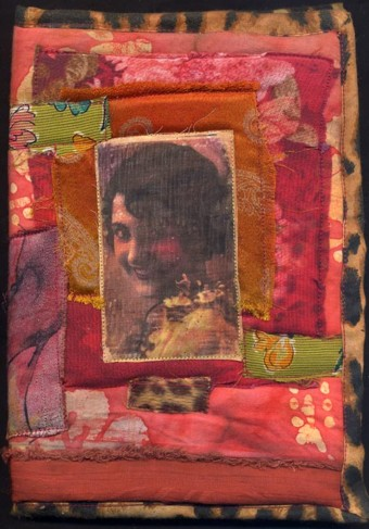 scrap fabric journal cover