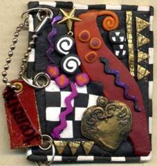 Polymer Clay small Journal Cover 4