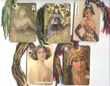 Helga strauss altered playing cards