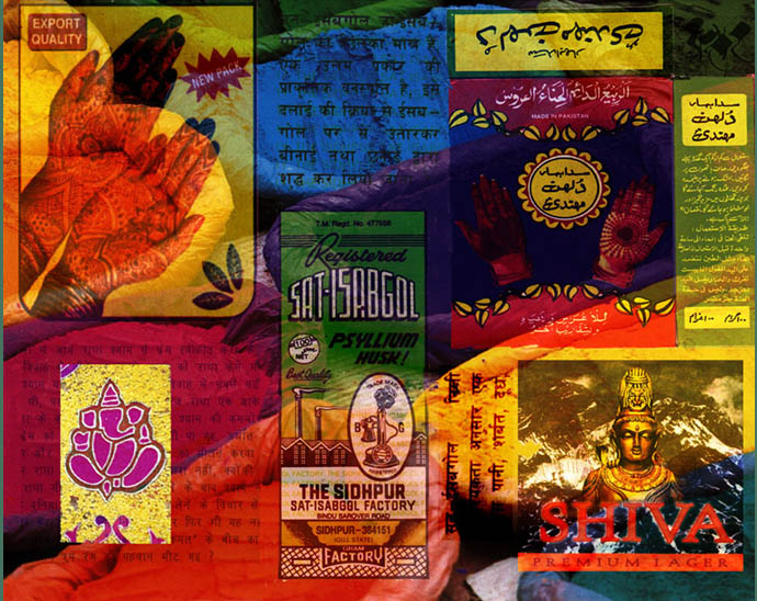 Catherine Rye, Indian Kitsch, digital Collage using Photoshop