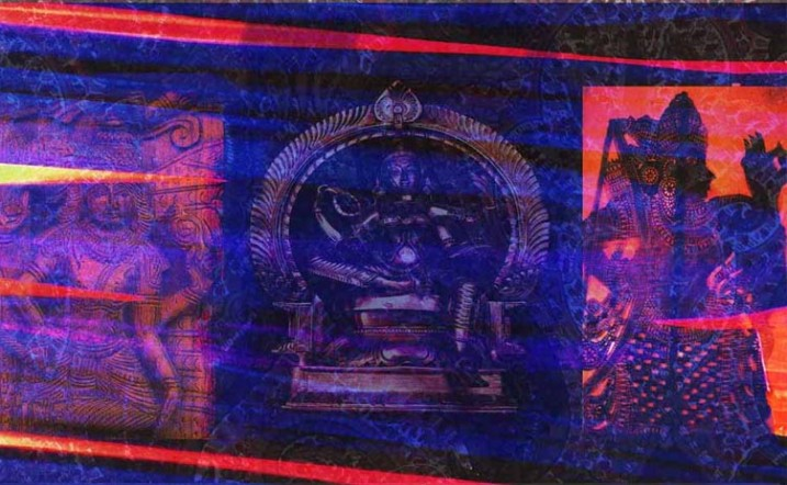 Catherine Rye, Indian Gods, digital Collage using Photoshop