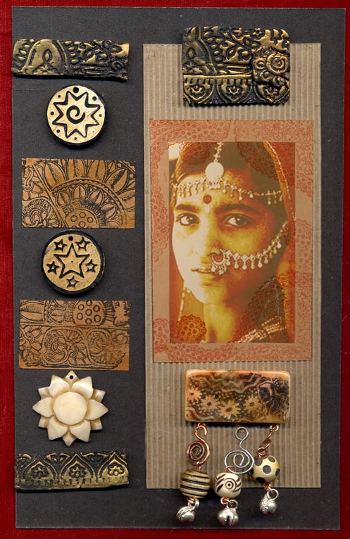 Gillain Allen UK/ Indian Lady with Beads