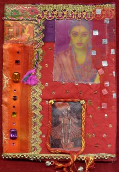 Gillain Allen. Fabric collage, book cover, front