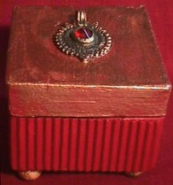 Sylvia Mahony CA, decorated papier mach� Indian box