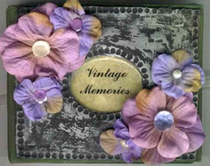 vintage memories altered book