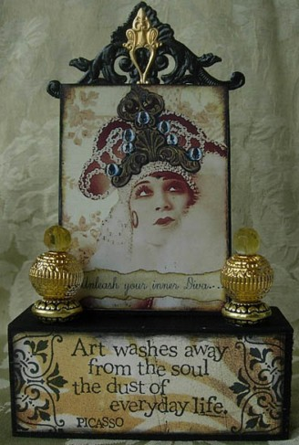 ATC Art Block Assemblage  Unleash Your Inner Diva