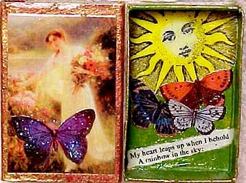 match box shrines from Jewel (aka magpie moon) in Arizona. rainbow