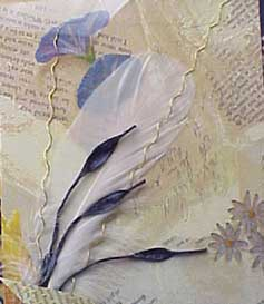 napkin feather detail