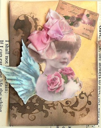 Ribbons for her Hair, atc