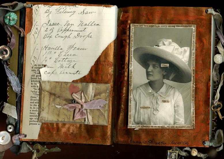 Shauna Palmer Shabby Chic Altered Book Pages
