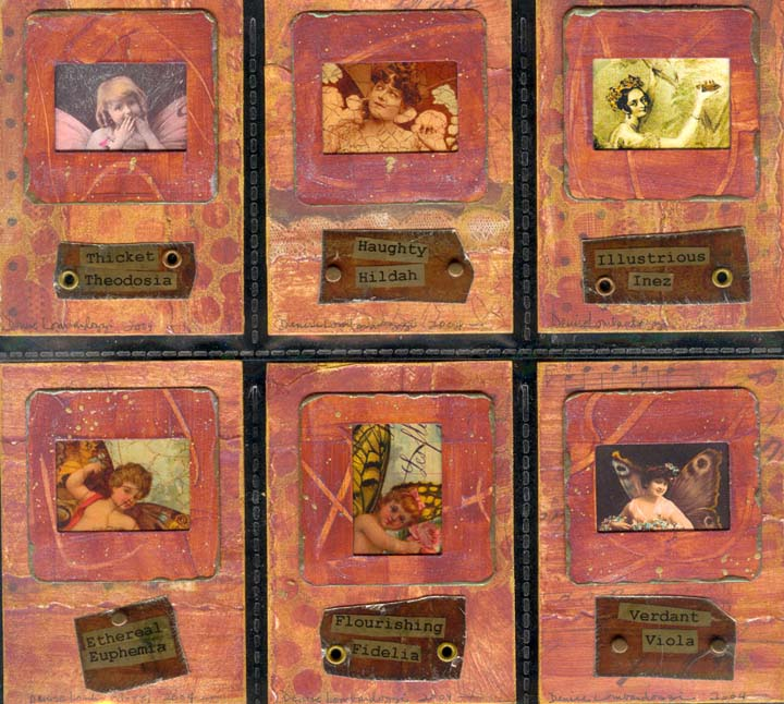 Denise Lombardozzi 'Fairies-Series' Artist Trading Cards