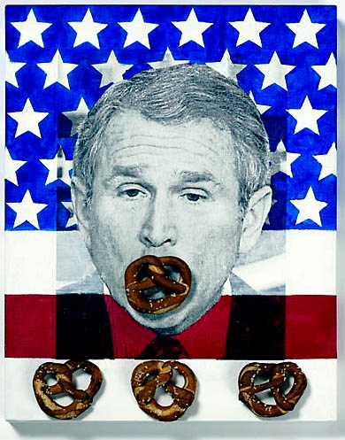 Wendy Cook,  Pin-the-Pretzel-on-the-Prez
