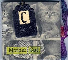 DeniseLombardozzi, collagecat mini book