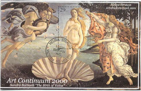 Helga Strauss/Botticelli stamps