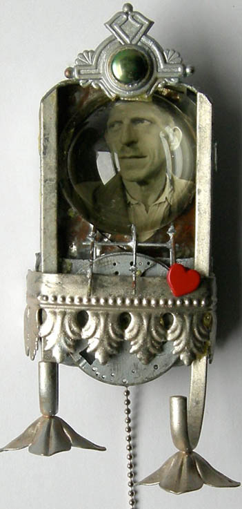 TIN MAN Mixed Media Altered Art Assemblage