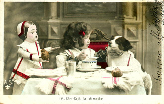 Vintage Images Children/tea party