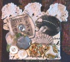 Nancy Hunt Bartek/Victorian collage pins