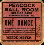 sent in by Christy Grant, Peacock ballroom  ticket
