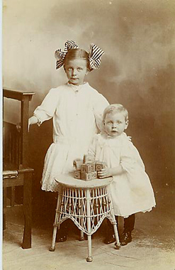 Vintage image, children, Lisa Cook