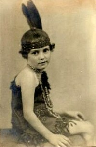 Vintage Photo, little darlin in dance costume