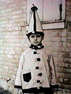 Vintage Photo, 1910's boy in halloween costume