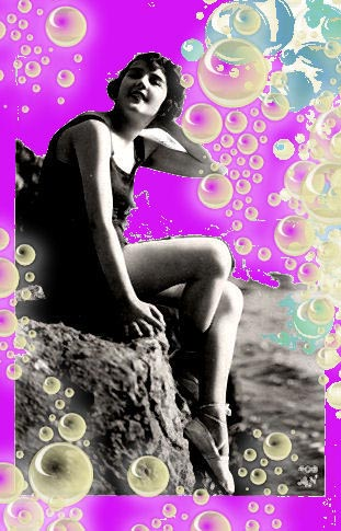 Pat Thornhill, beach girl bubble